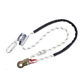 Línea de amarre para posición en el trabajo con ajuste de agarre